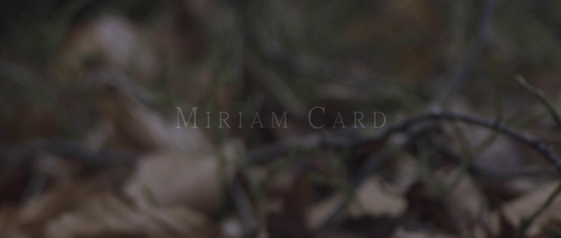 Miriam Card - 1